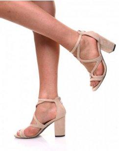Sandales ouvertes beige
