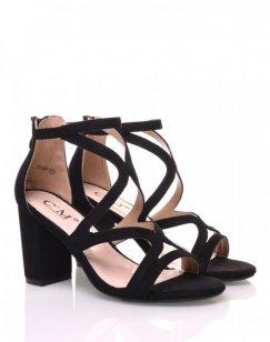 Sandales ouvertes noires