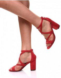 Sandales ouvertes rouge