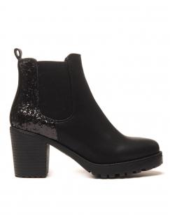 Sublimes Chelsea boots noires à talons et paillettes