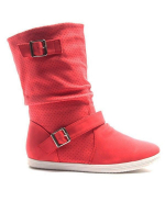 Chaussures femme Alicia Shoes: Botte style basket - rouge
