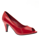 Chaussures femme Ideal: Escarpins vernis rouges