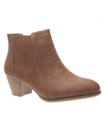 Chaussures femme Just Woman: Bottines camel