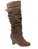 Chaussures femme Sinly: Bottes taupe