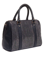 Sac femme Be Exclusive: Sac bowling noir avec strass