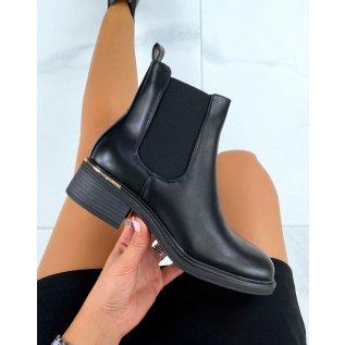 Chelsea boots noires en similicuir