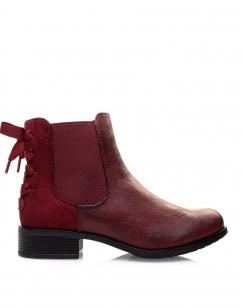 Chelsea boots bordeaux à noeuds