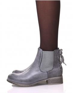 Chelsea Boots grises à nœuds