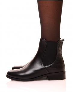 Chelsea boots noir bi-matière