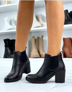 Chelsea boots noires à talons
