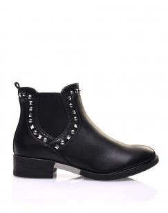 Chelsea boots noirs ornés de clous