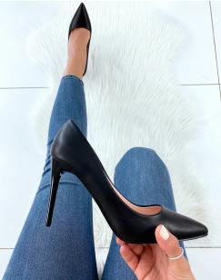 Escarpins noirs effet mat