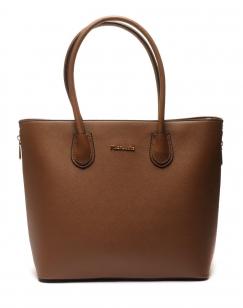 Grand sac à main taupe foncé Flora&Co