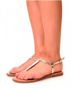 Nu-pieds effet tong or
