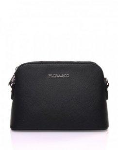 Petit sac bandoulière texturé noir